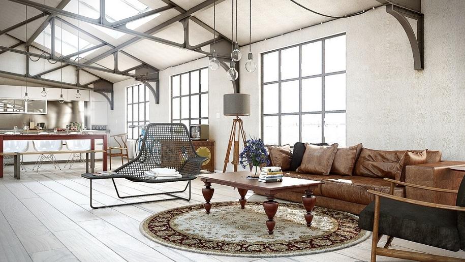 Salón estilo industrial