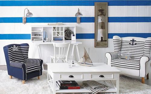 Salón estilo marinero